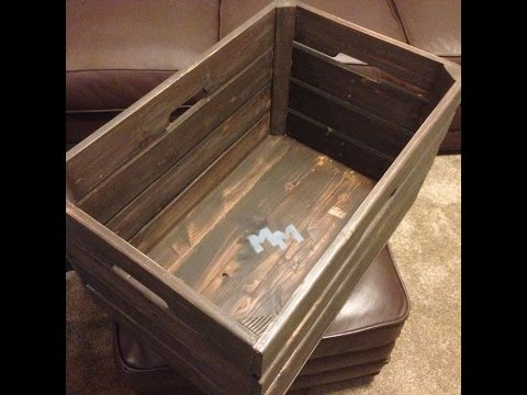 How to Make a Rustic Crate for Storage