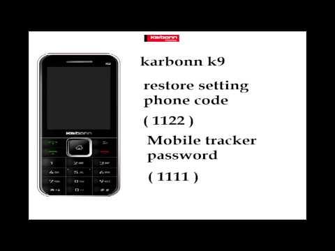 karbonn k9 phone code & tracker password
