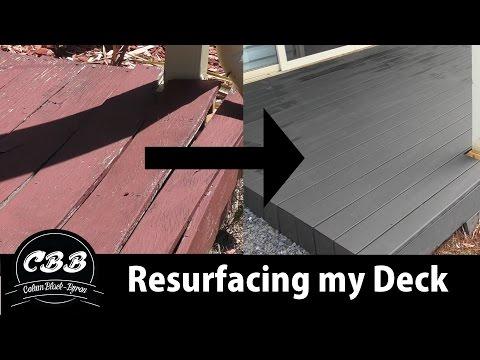 I Resurfaced my Deck - Plastic/Bamboo Composite - Ekodeck