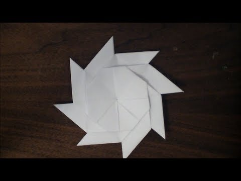 How to make an 8 point origami ninjastar