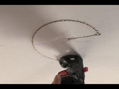 Laser Plumb Bob Speeds Ceiling Drywall Installation