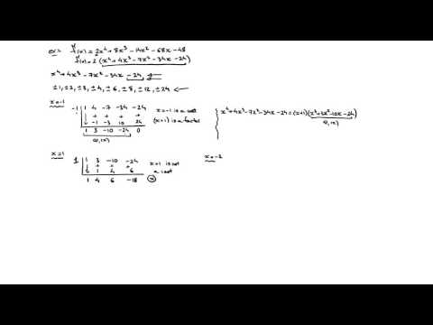 Root Factoring Polynomial Functions
