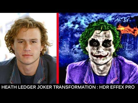 Heath Ledger Joker Transformation : Photoshop & HDR Efex PRo 2