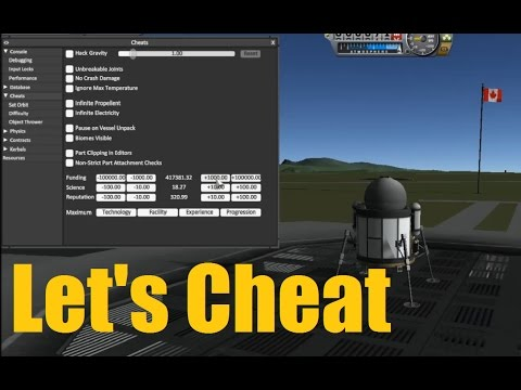 Let's Cheat on KSP - NEW Cheat/Debug Menu - ep158
