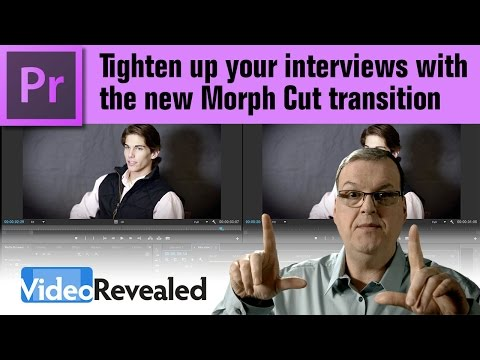Tighten up your interviews with the Morph Cut Transition in Premiere Pro
