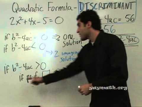 Algebra 2 - Discriminant