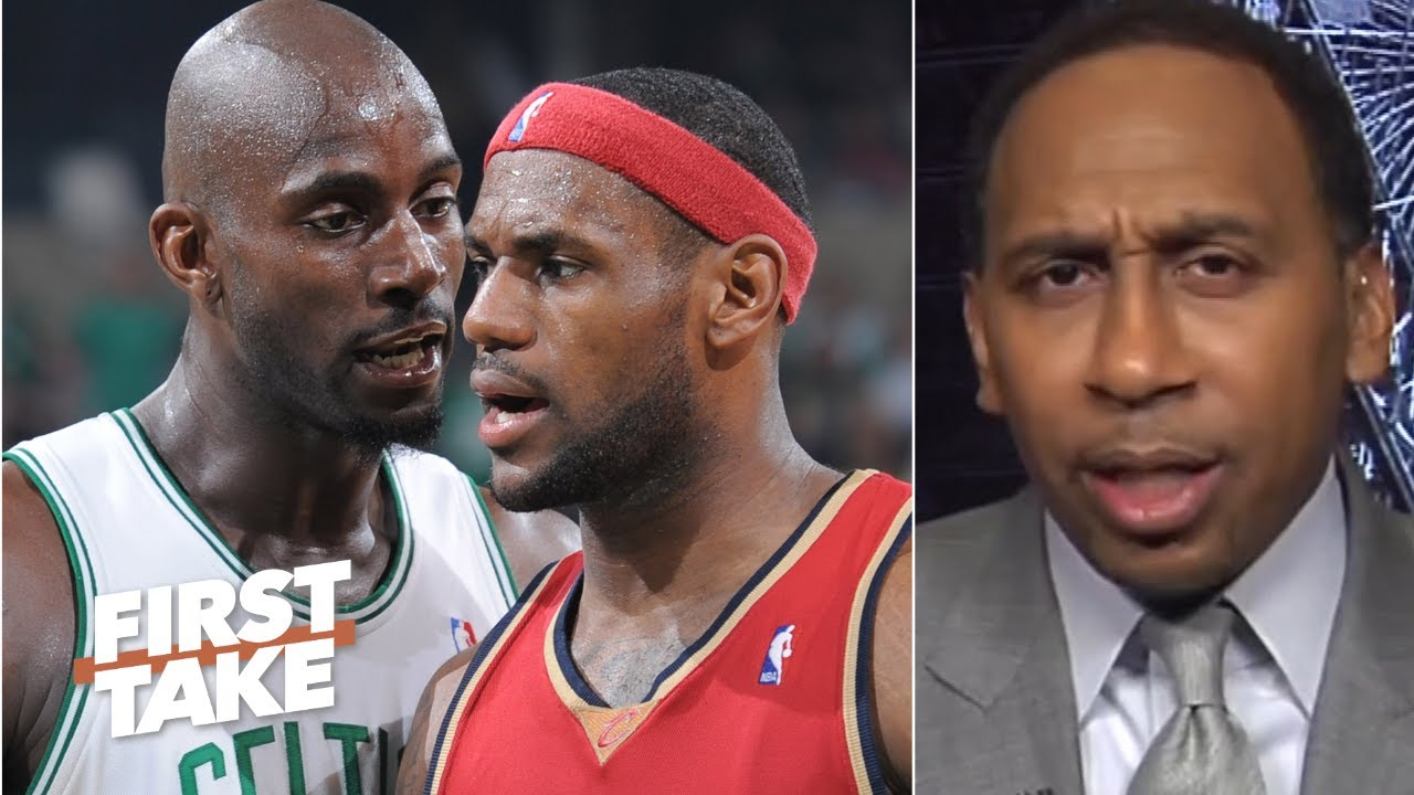 Stephen A. reacts to Kevin Garnett claiming his Celtics ran LeBron out of Cleveland   First Take