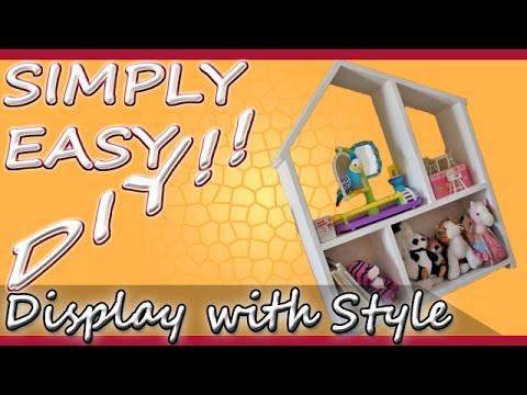 DIY Dollhouse Style Display Shelf