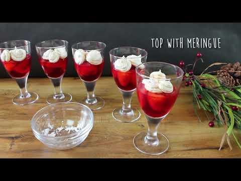 Strawberry Meringue Gelatin Parfait