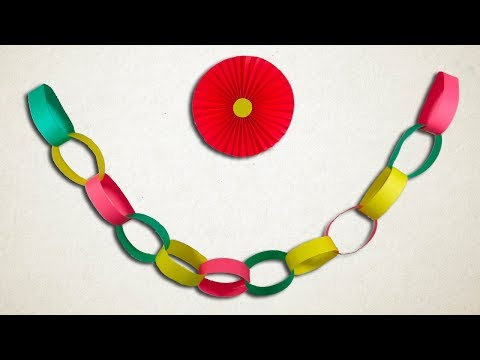 How To Make Paper Chains Easily    DIY Paper Decorations.