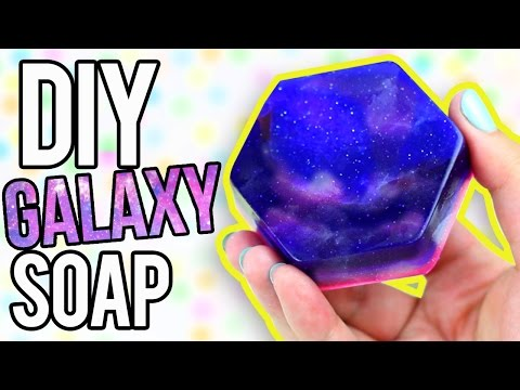 DIY GALAXY SOAP - EASY Melt & Pour!