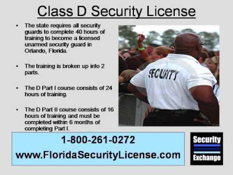 Florida Class D Security License Orlando
