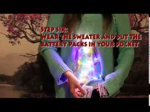 Under $10 DIY Light Up LED Ugly Christmas Sweater