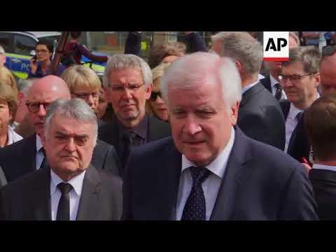 German officials honour Muenster van crash victims, comment