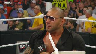 Raw: Batista quits WWE