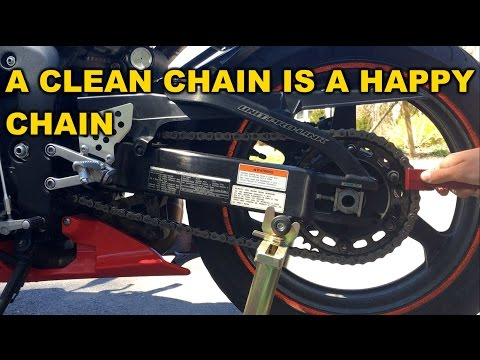 How to clean & lube a Motorcycle Chain