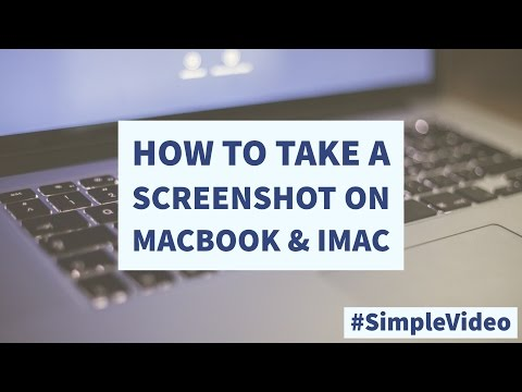  How to take a Screenshot on iMac MacBook & Mac --- #SimpleVideo ---