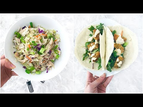 Easy Healthy Lunch Ideas For School Or Work! Quick Healthy Eating Recipes!