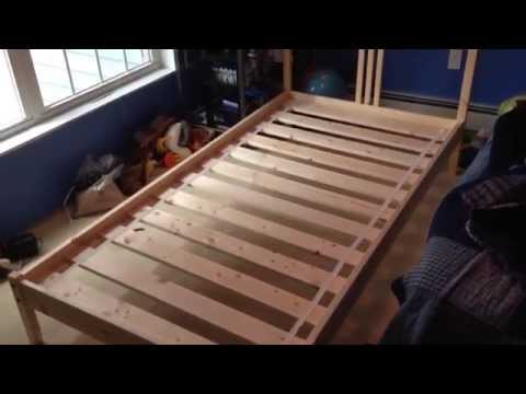 How To Build Assemble Put Together IKEA FJELLSE Wooden Twin Bed