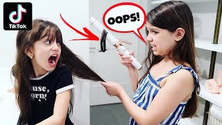TRYING FUNNY VIRAL TikTok PRANKS ON MY SISTER! | Emily and Evelyn
