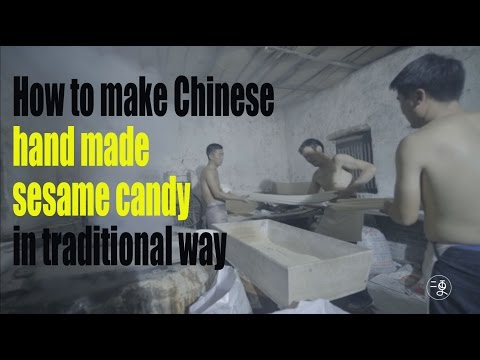 [Food] How to make Chinese hand made sesame candy in traditional way | More China