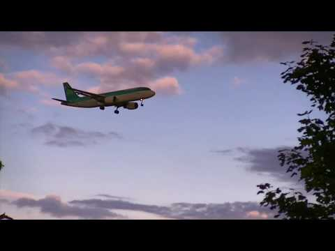 Aircraft Landing at Belfast International Airport