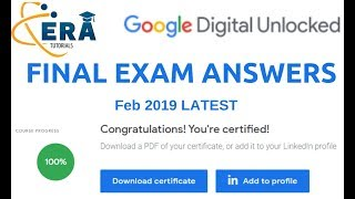 Google Digital Unlocked Certificate Final Exam Answers - 2019 - 6th