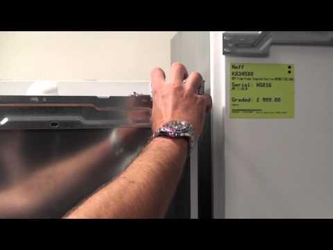 How to re hinge the door on an Integrated fridge freezer