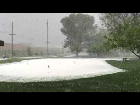 May hail storm at Forest Dale