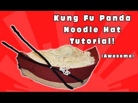 Kung Fu Panda Noodle Hat Tutorial- Kids Cool Movies Tutorials