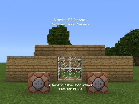 How To Make A Automatic Piston Door (MCPE Command Block Creations)