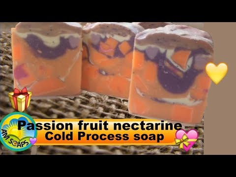 Passion fruit nectarine Cold Process soap on Christmas Day