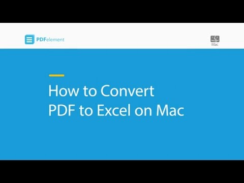 How to Convert PDF to Excel on Mac