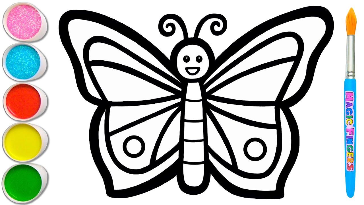 Mari Belajar Bagaimana Menggambar & Melukis Kupu-kupu   Melukis, Mewarnai untuk Anak, Balita #112