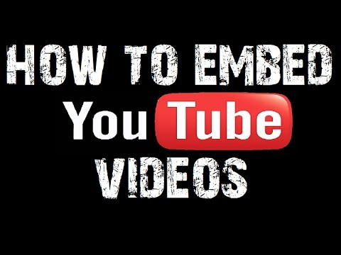 How To Embed Youtube Video in HTML / Web Pages
