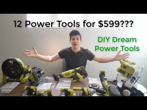 Ryobi 18-Volt ONE+ Lithium-Ion Cordless Combo Kit (12 piece Tool) Unboxing and Initial Review