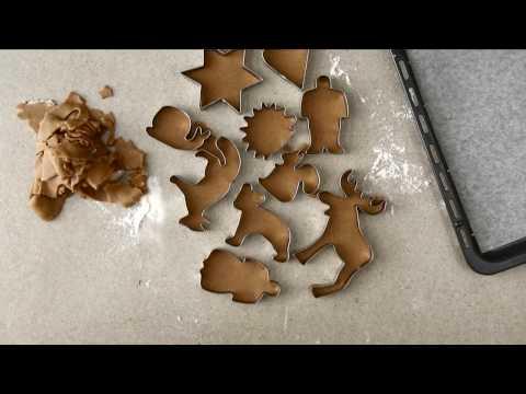 Orange-y gingerbread cookies