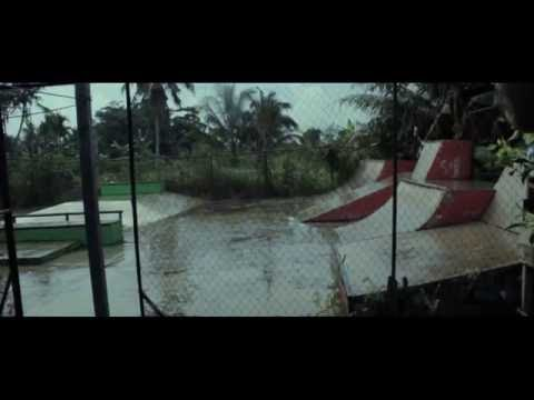 After Rain with skateboard
