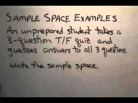 Simple Sample Space Examples