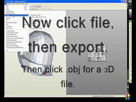 How do convert a Pepakura file to a 3D file
