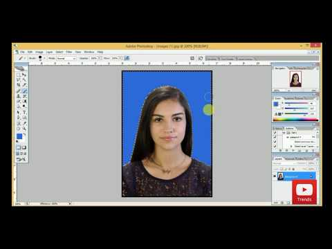 how to change background color in passport size photo