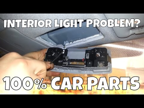 HOW TO CHANGE REPLACE INTERIOR LIGHT AND BULBS MAZDA 6 (FRONT)