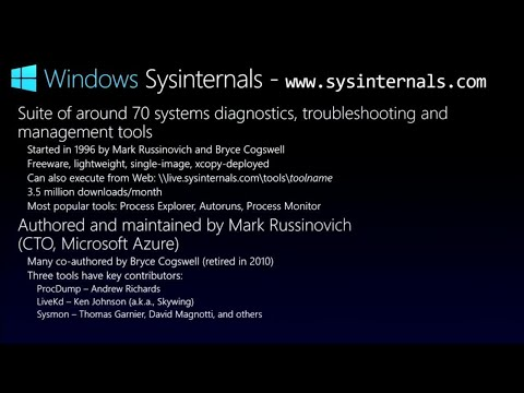 The Sysinternals tools make you better at your job - BRK3148