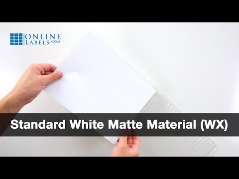 Standard White Matte Labels - See Features and Uses
