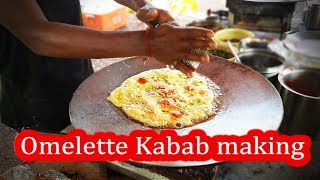 Yummy ! Omelette Kabab | Yadav Omelette Center , Surat City | Indian Street Food 2018
