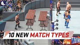 WWE 2K18 Top 10 New Custom Match Types