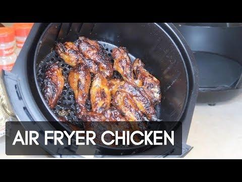 AIR FRYER Honey BBQ Chicken Wings | Lil T's Kitchen