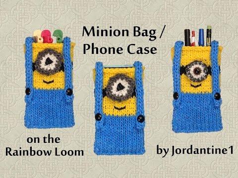 New Minion Bag / Phone Case / Purse / Pencil Pouch - Made on the Rainbow Loom