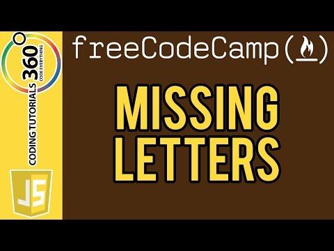 Missing Letters:  Intermediate Algorithm Scripting Free Code Camp
