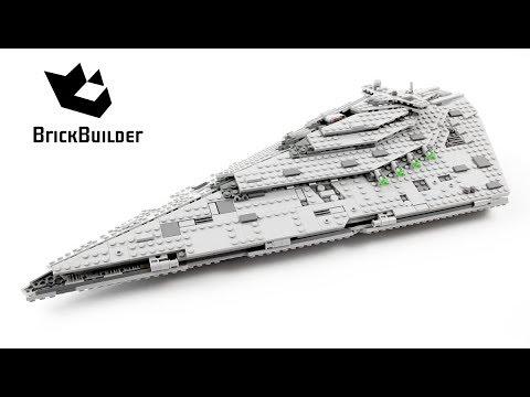 Lego Star Wars 75190 First Order Star Destroyer - Lego Speed Build